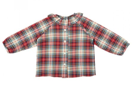 camisa volante escoces burdeos1